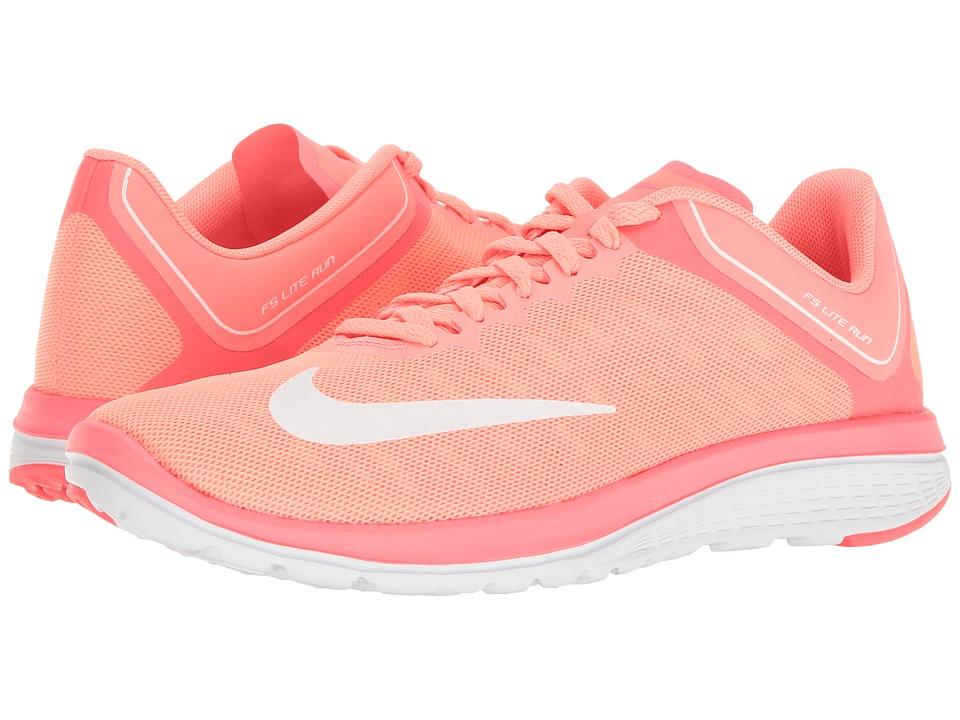Nike - FS Lite Run 4 (Lava Glow/White/Hot Punch) Women's Shoes