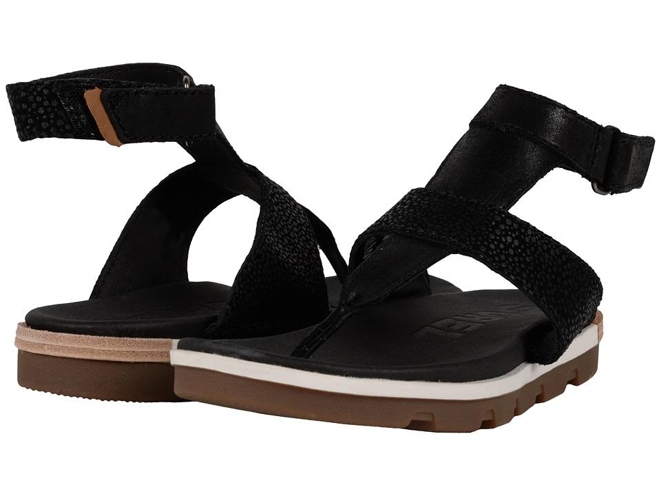 SOREL Torpeda Ankle Strap (Black/White) Women