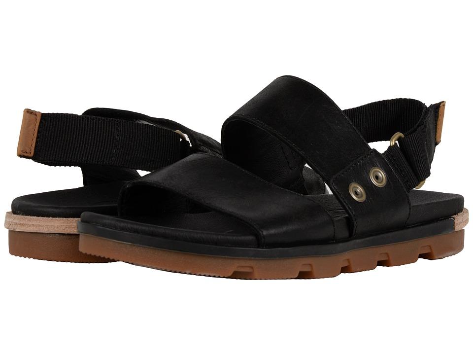 SOREL - Torpeda Sandal (Black/Sahara) Women's Shoes