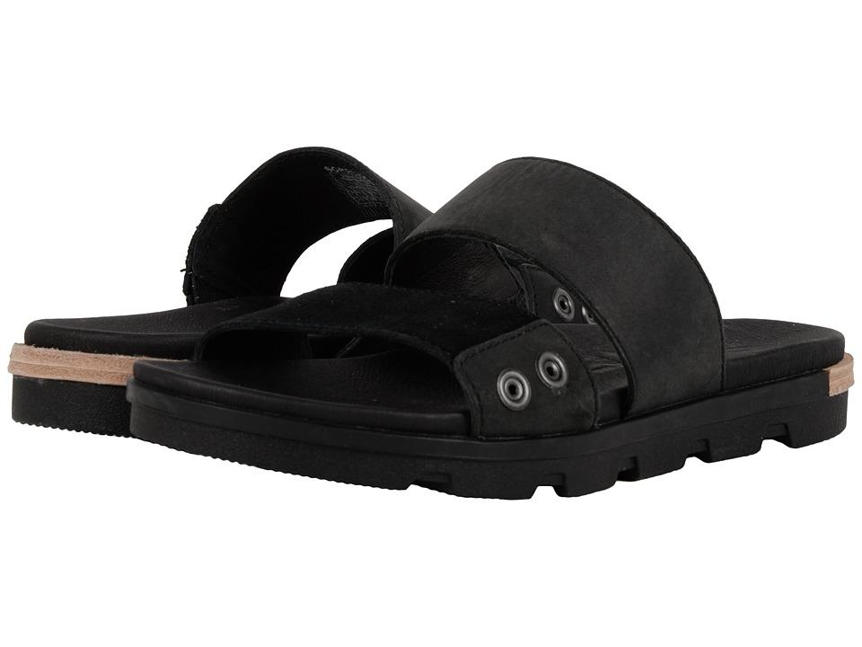 SOREL - Torpeda Slide II (Black/White) Women's Slide Shoes