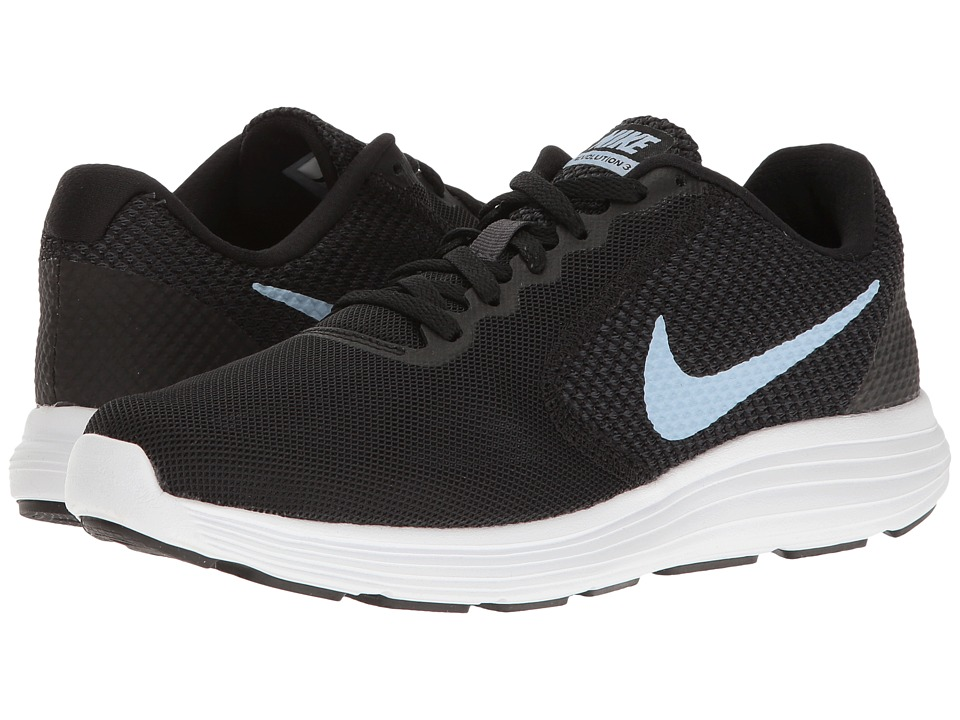 Nike - Revolution 3 (Black/Aluminum) Women's Running Shoes