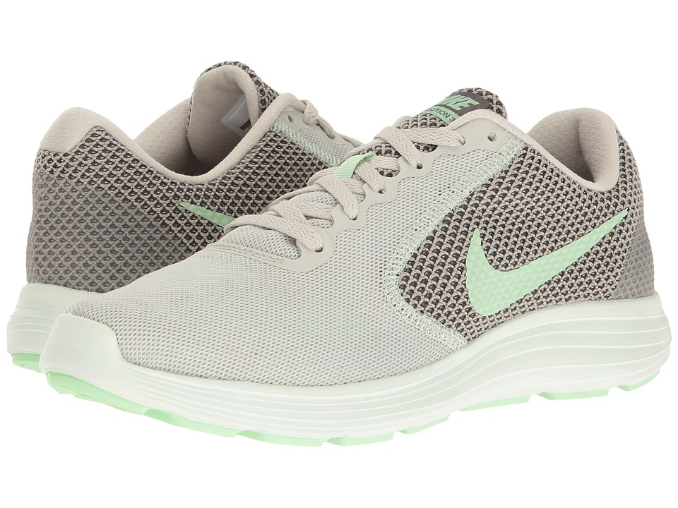 Nike - Revolution 3 (Light Bone/Fresh Mint/Midnight Fog) Women's Running Shoes