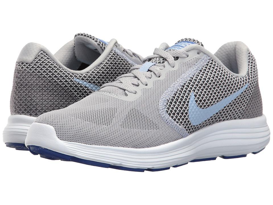 Nike - Revolution 3 (Wolf Grey/Aluminum/Black/Blue Tint) Women's Running Shoes