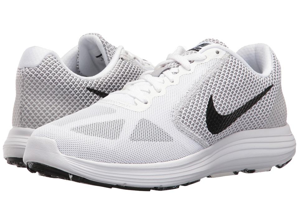 Nike - Revolution 3 (White/Black/Wolf Grey) Women's Running Shoes