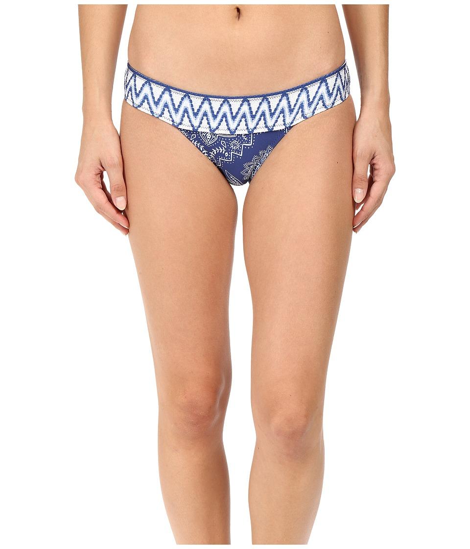 Rip Curl - Dakota Rose Banded Hipster Bottoms (Navy) Women's Swimwear