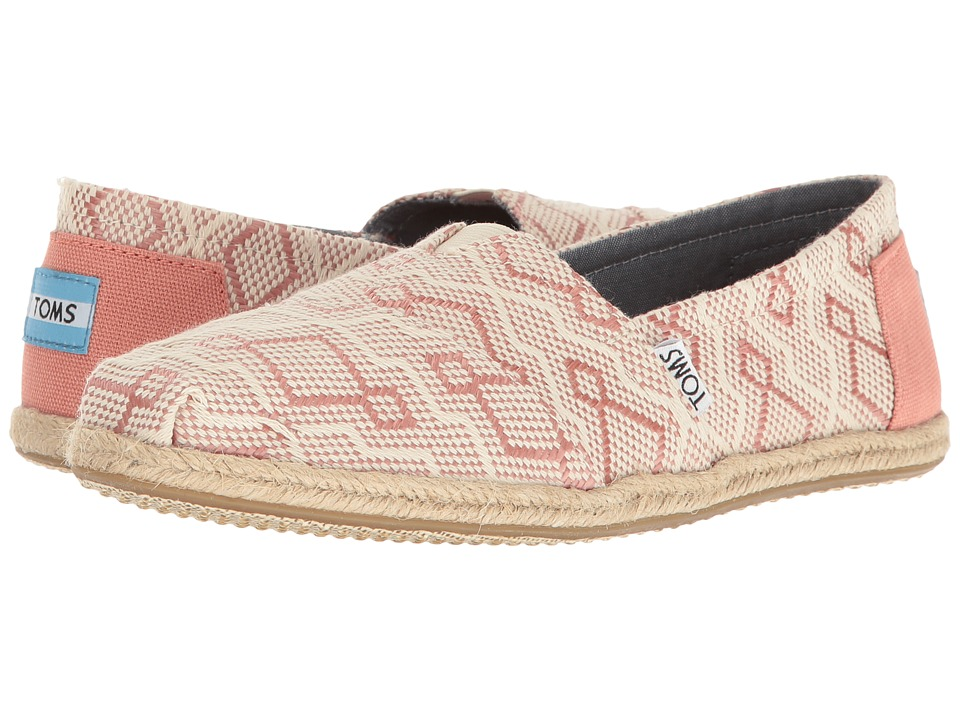 TOMS - Seasonal Classics (Clay Diamond Jacquard Rope Sole) Women's Slip on Shoes