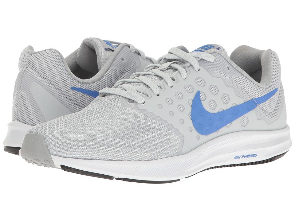 Nike - Downshifter 7 (Pure Platinum/Medium Blue/Wolf Grey) Women's Running Shoes