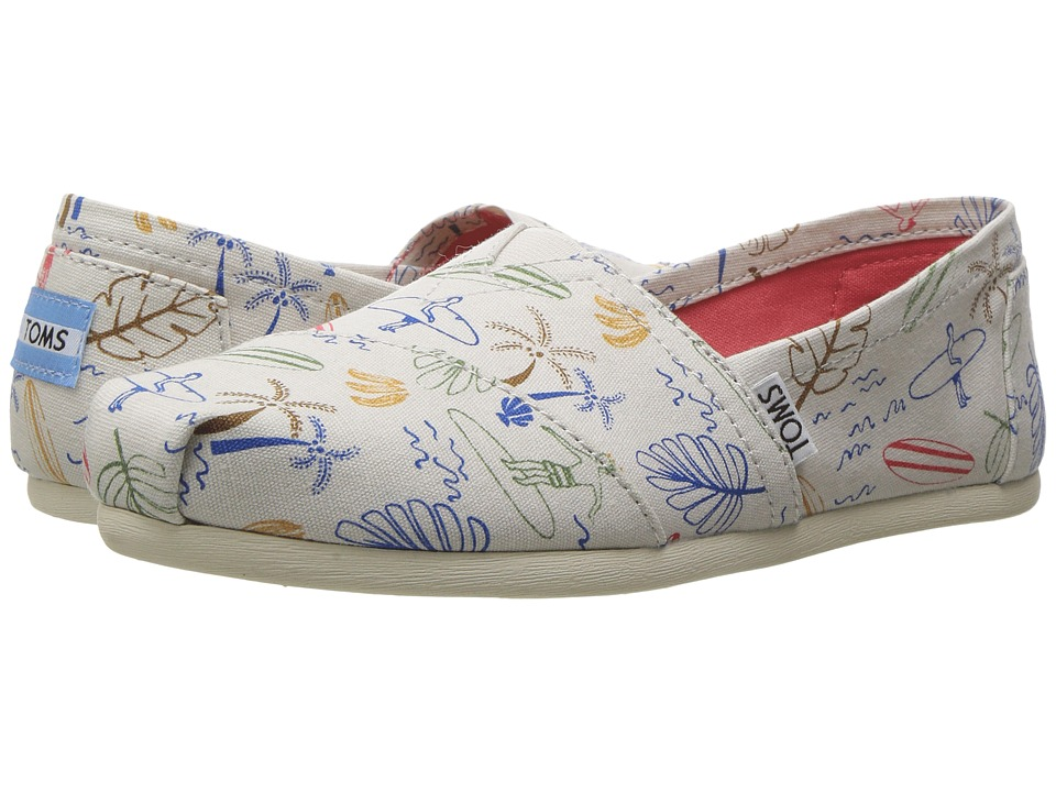 TOMS - Seasonal Classics (Grey Multi Surf City) Women's Slip on Shoes