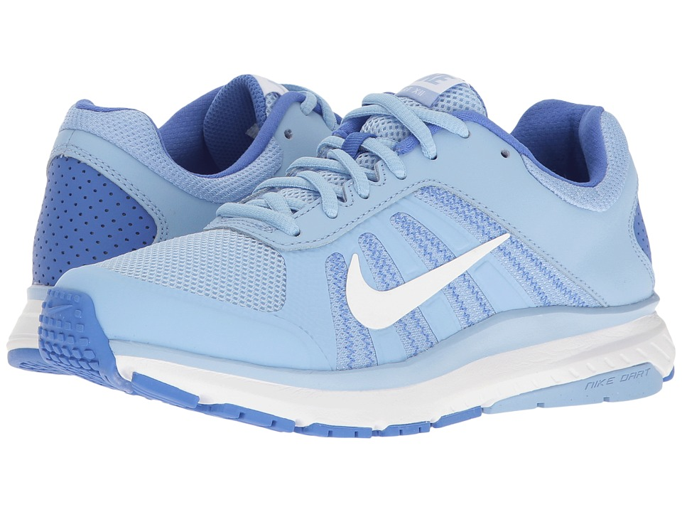 Nike - Dart 12 (Aluminum/White/Medium Blue) Women's Running Shoes