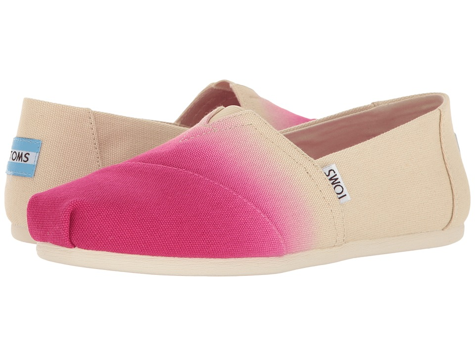 TOMS - Seasonal Classics (Fuchsia Dip-Dye) Women's Slip on Shoes