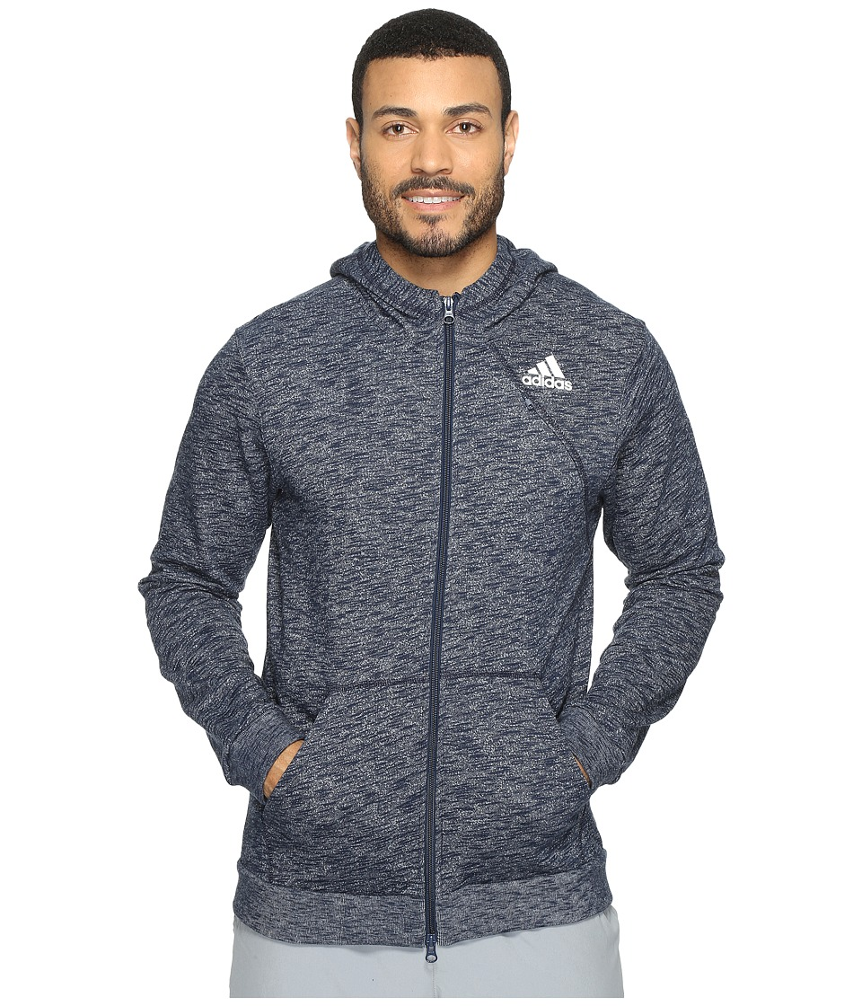 adidas - Cross Up Full Zip Hoodie (Collegiate Navy/Solid Grey) Men's Sweatshirt