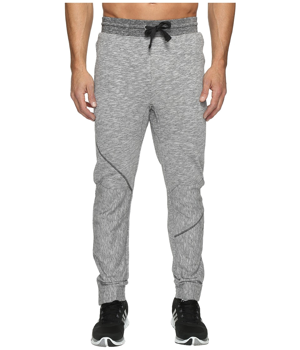 adidas - Cross Up Pants (Light Grey Heather Solid Grey/Black) Men's Casual Pants