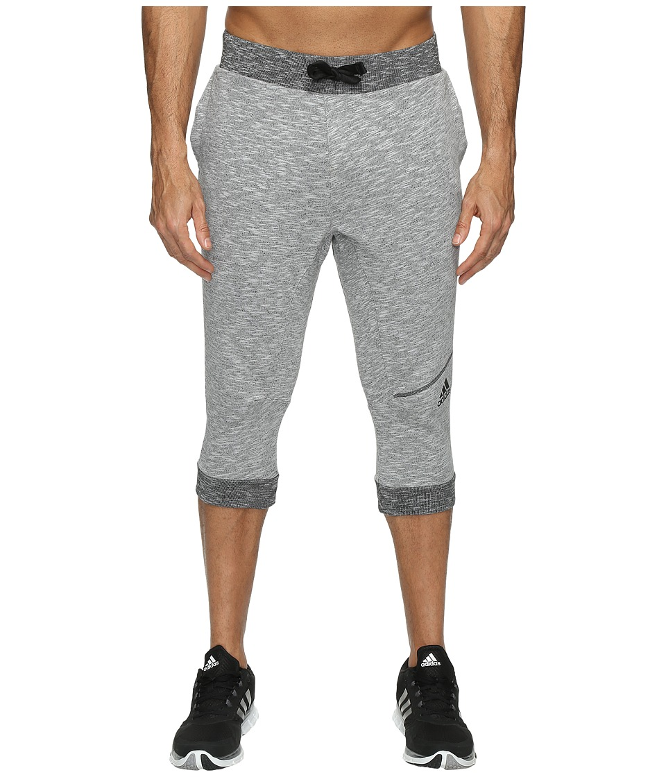 adidas - Cross Up 3/4 Pants (Light Grey Heather) Men's Casual Pants