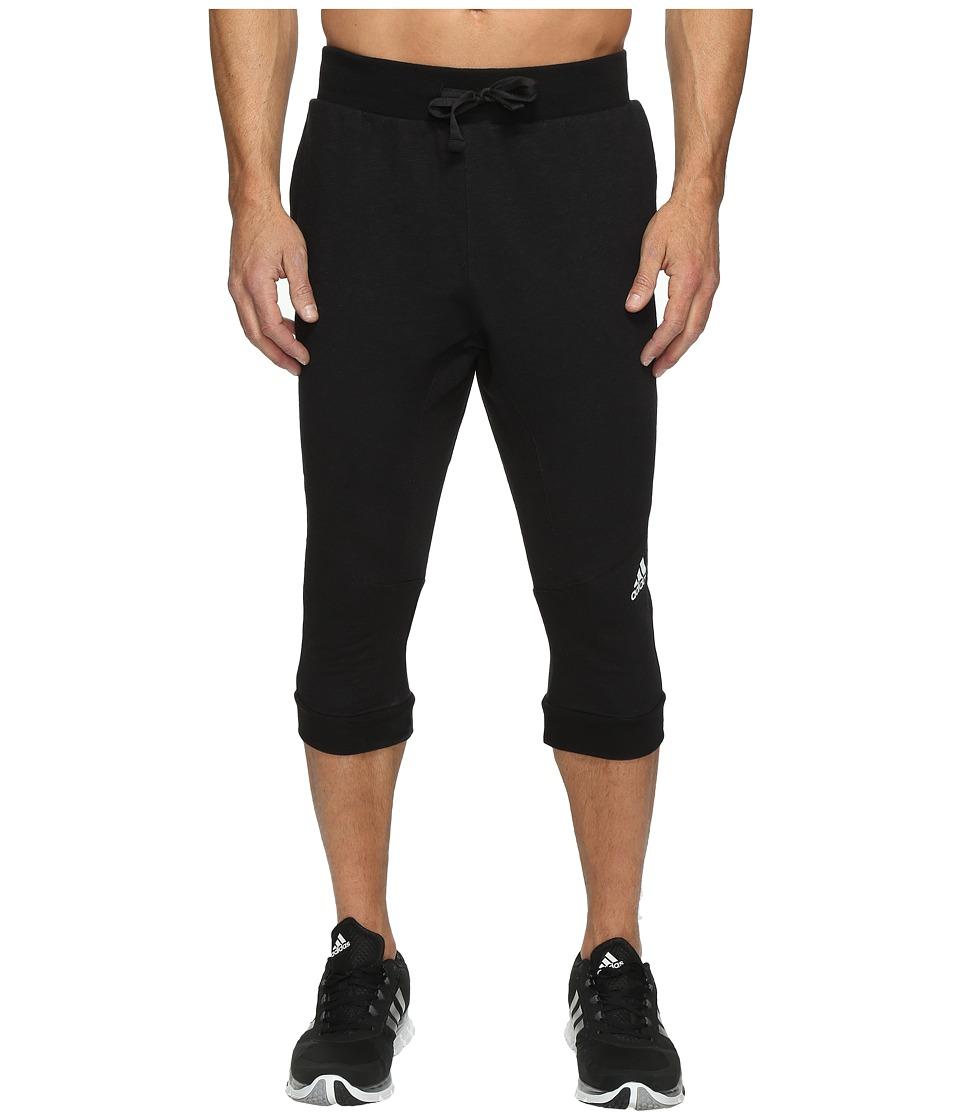 adidas - Cross Up 3/4 Pants (Black/Black) Men's Casual Pants