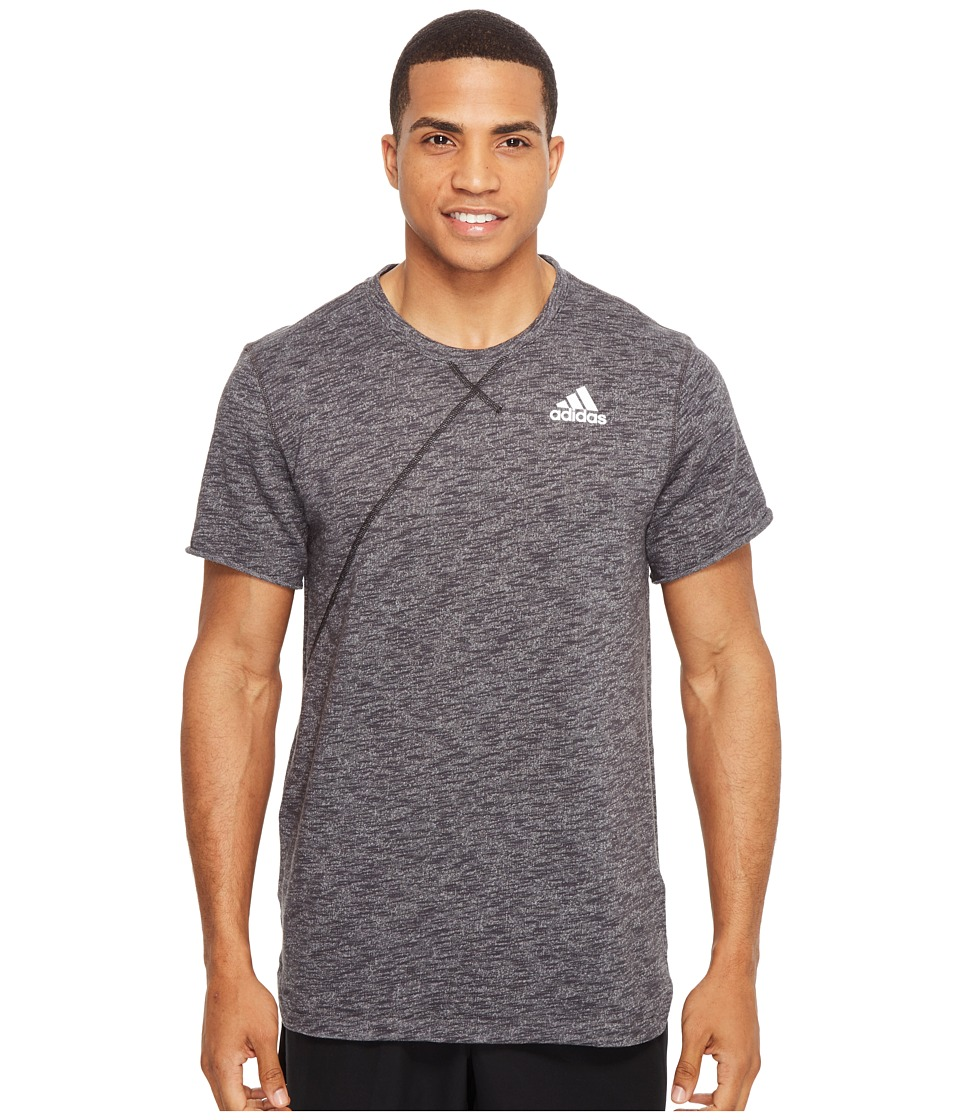 adidas - Cross Up Tee (Utility Black) Men's Short Sleeve Pullover
