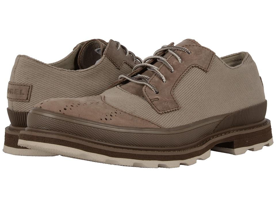 SOREL - Madson Wingtip Lace (Pebble/Mud) Men's Lace Up Wing Tip Shoes