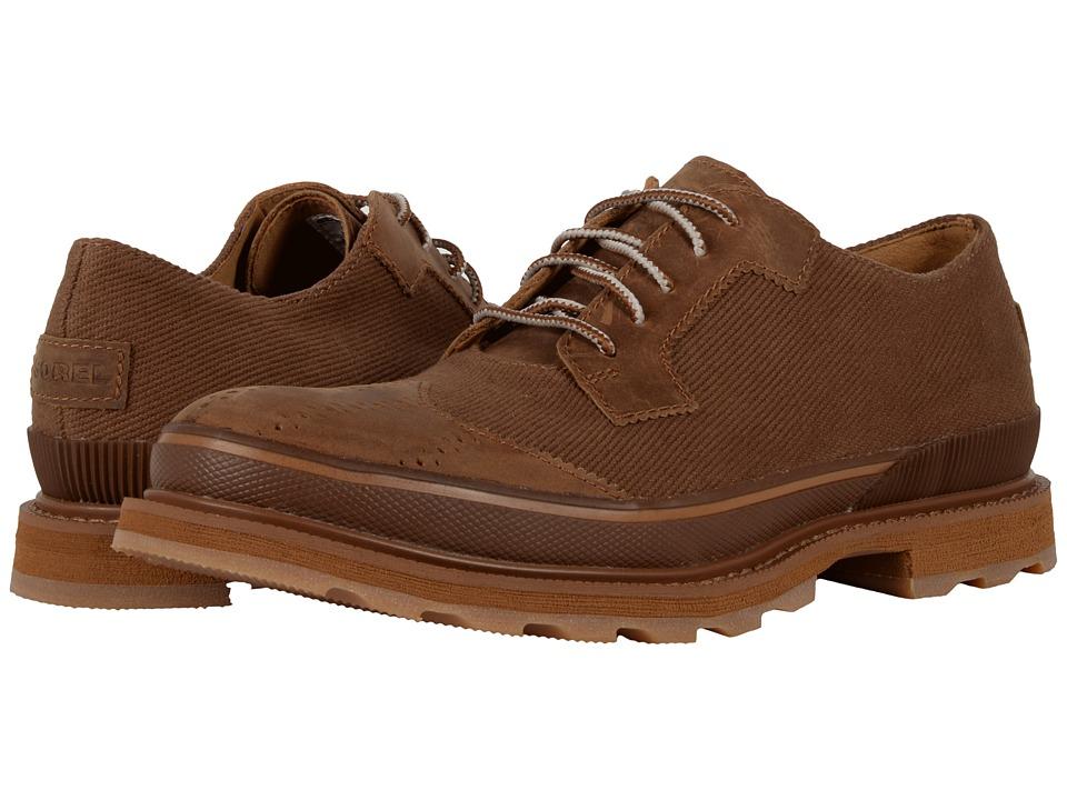 SOREL - Madson Wingtip Lace (Chipmunk/Nutmeg) Men's Lace Up Wing Tip Shoes