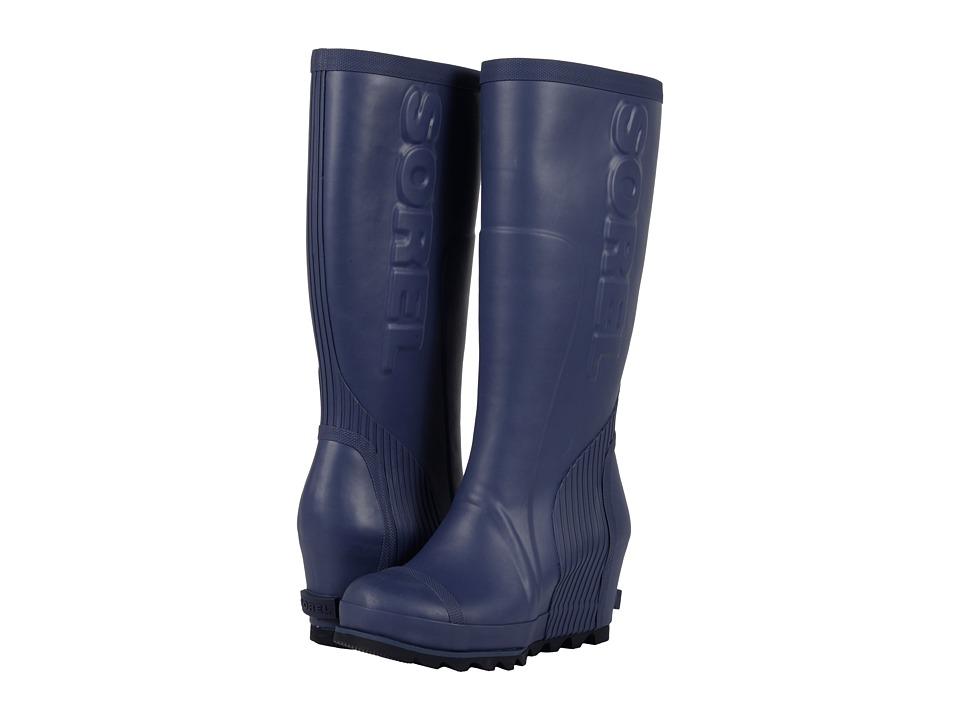 SOREL - Joan Rain Wedge Tall (Nocturnal/Black) Women's Rain Boots