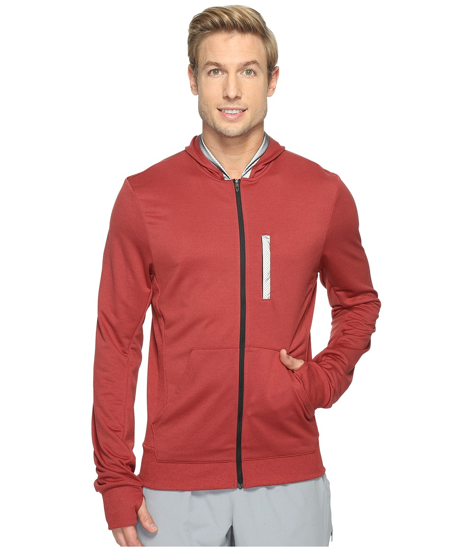 adidas - Beyond The Run Hoodie (Mystery Red S17/Black) Men's Sweatshirt