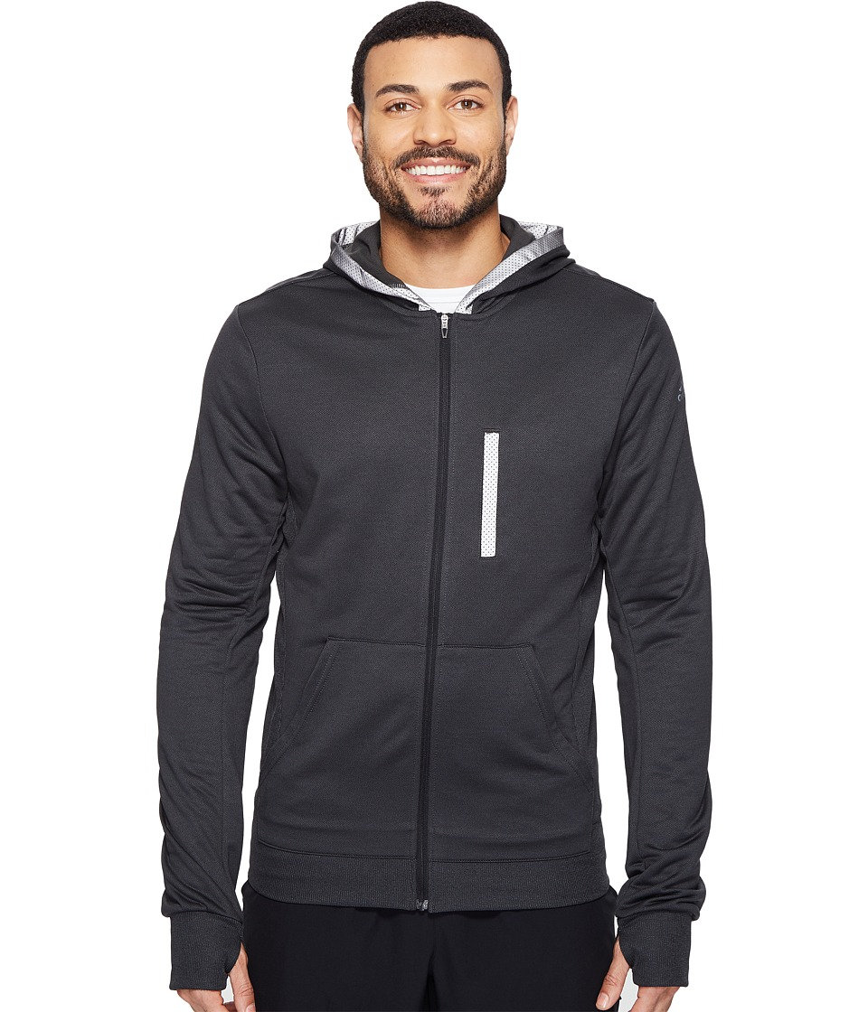 adidas - Beyond The Run Hoodie (Black/Black) Men's Sweatshirt