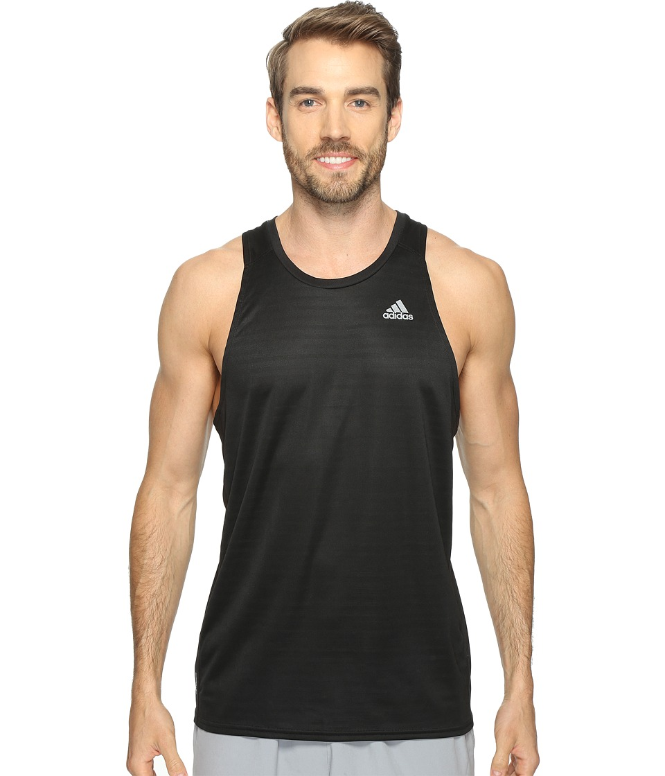 adidas - Response Singlet (Black) Men's Sleeveless