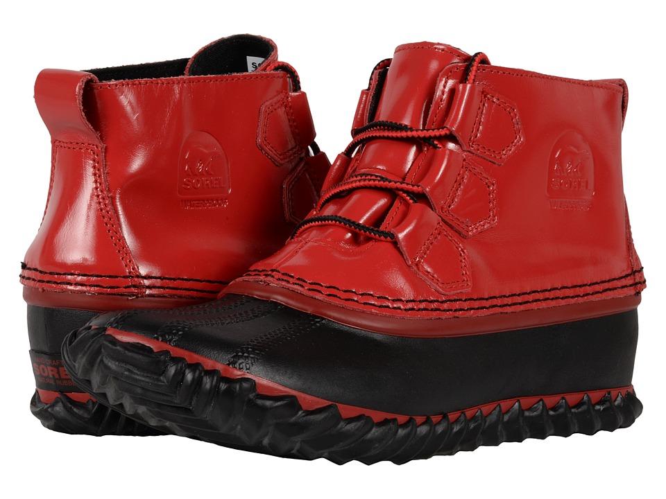 SOREL - Out 'N About Rain (Burnt Henna/Black) Women's Rain Boots