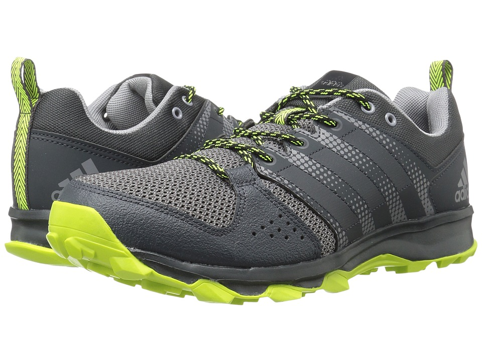 adidas - Galaxy Trail (Urban Trail/Grey/Solar Yellow) Men's Running Shoes