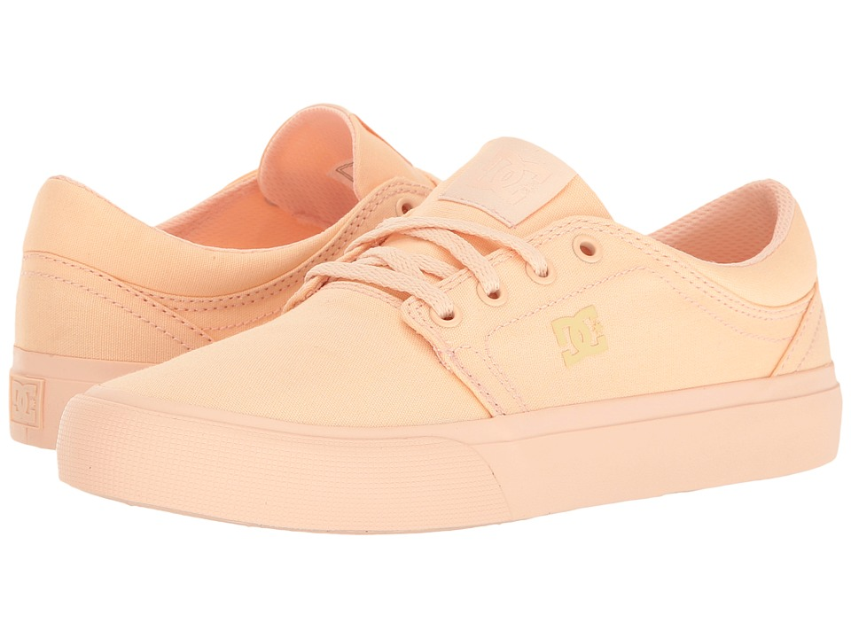 DC - Trase TX (Peachie Peach) Women's Skate Shoes