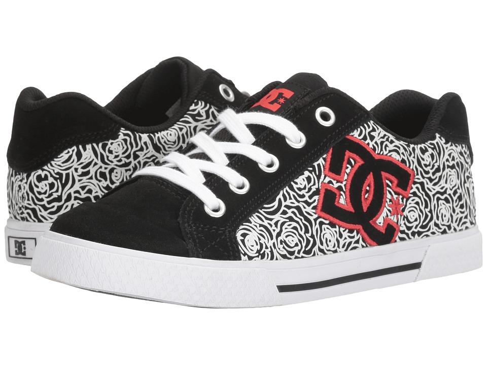 DC - Chelsea SE W (Black/White/Red) Women's Skate Shoes