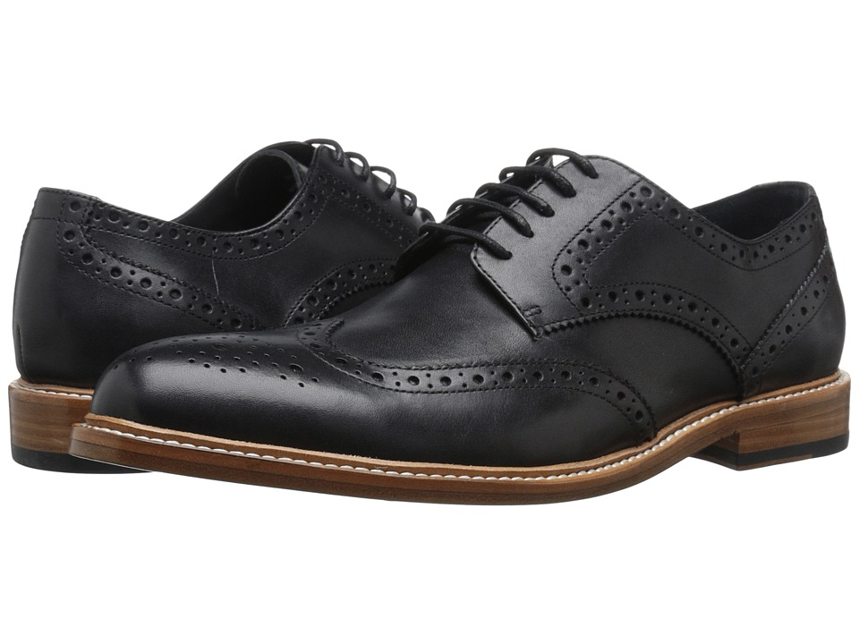 Gordon Rush - Baines (Black) Men's Lace Up Wing Tip Shoes