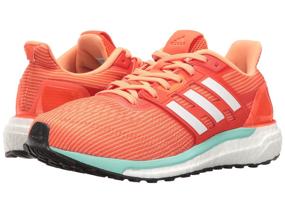 adidas - Supernova (Energy/Footwear White/Easy Orange) Women's Running Shoes