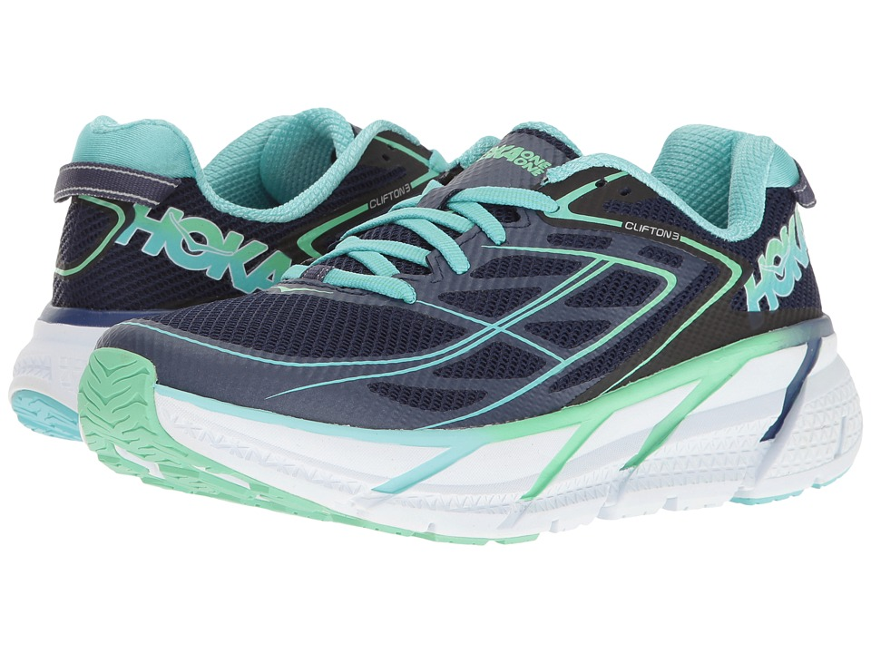 Hoka One One - Clifton 3 (Medieval Blue/Spring Bud) Women's Shoes