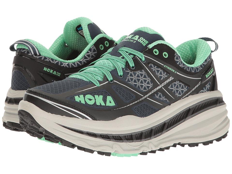 Hoka One One - Stinson 3 ATR (Midnight Navy/Spring Bud) Women's Running Shoes