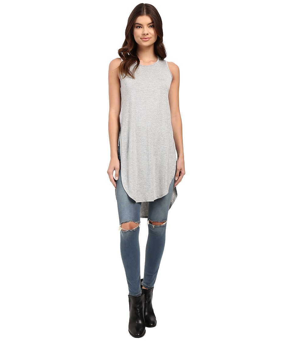 Culture Phit - Amelie Sleeveless Envelope Top (Heather Grey) Women's Sleeveless