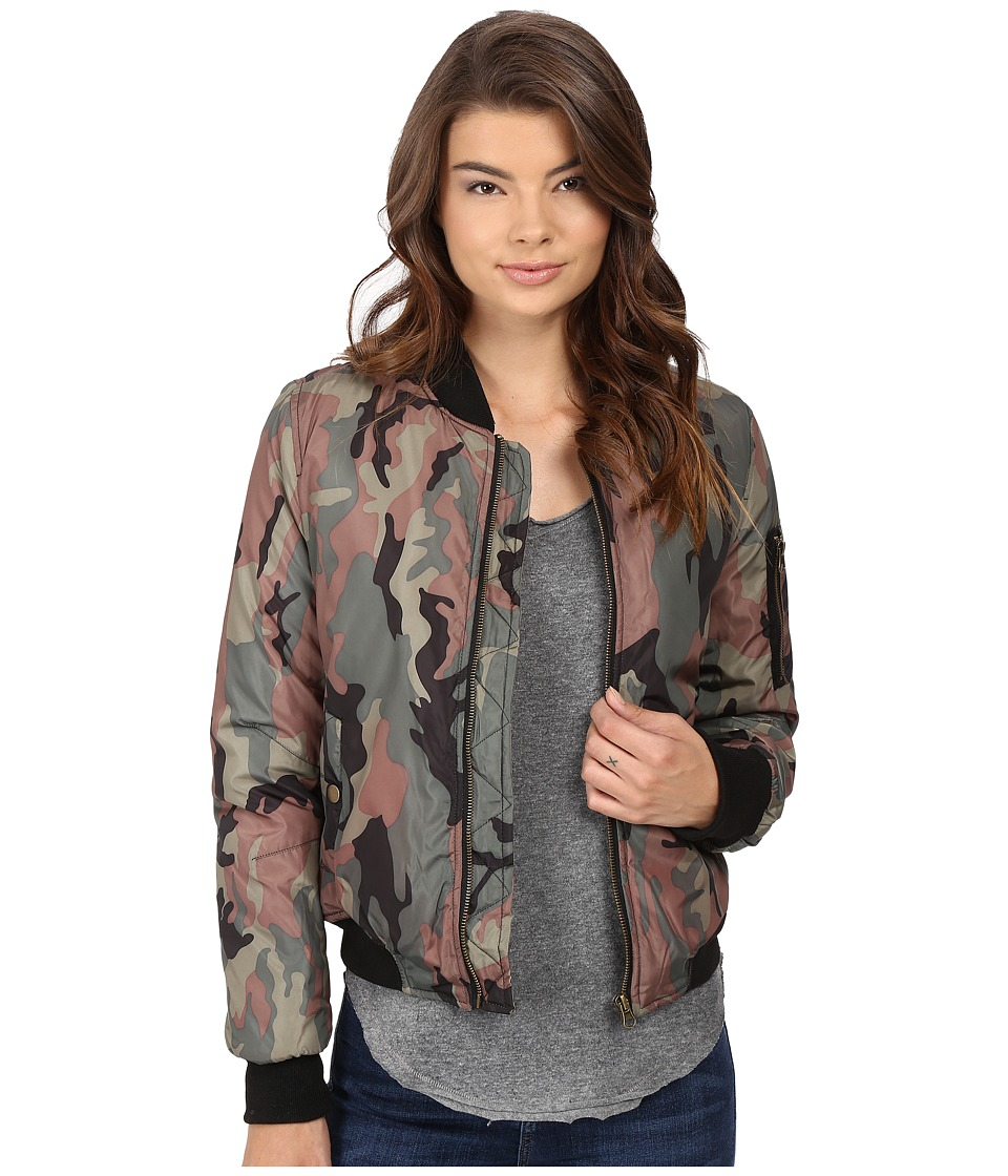 Brigitte Bailey - Crazy Eights Flight Jacket (Camo) Women's Coat