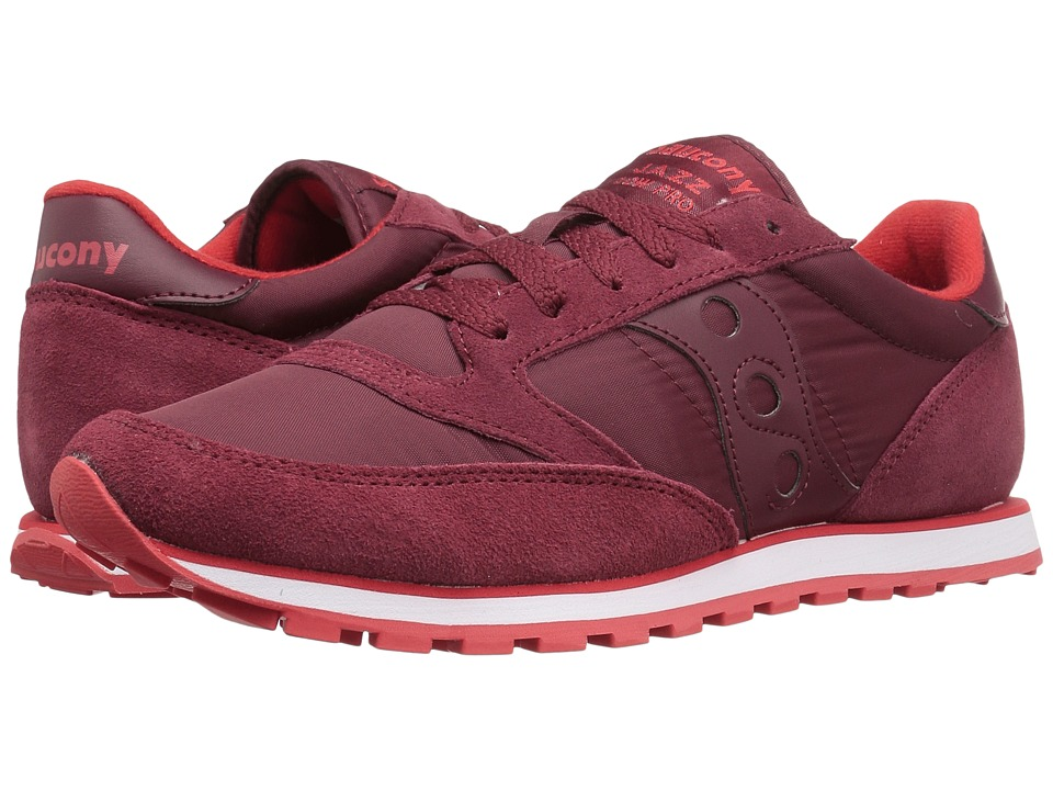 Saucony Originals - Jazz Low Pro (Red/Red/White) Men's Classic Shoes