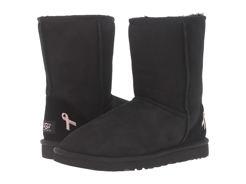 UGG - Classic Short Ca (Black) Women's Boots