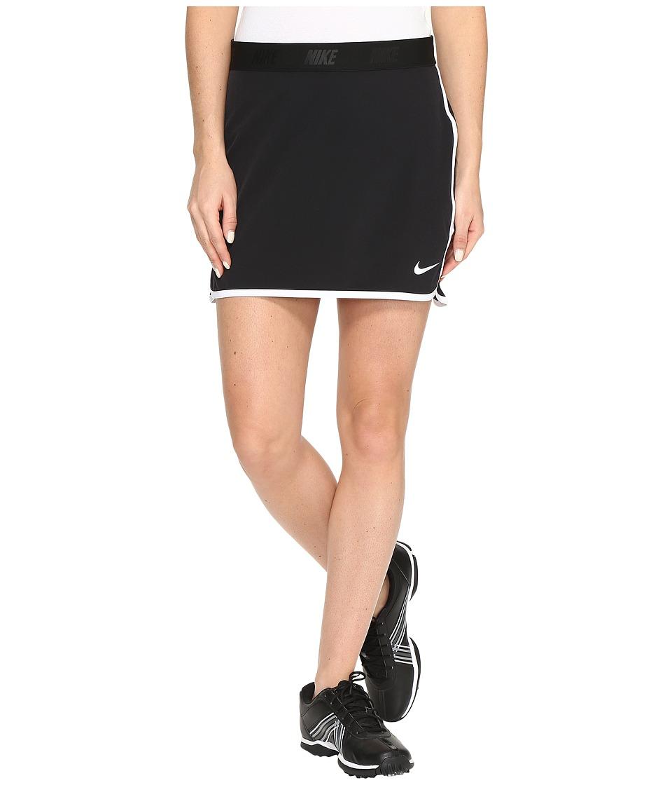 Nike Golf Fringe Flip Skort Solid (Black/White/Metallic Silver) Women