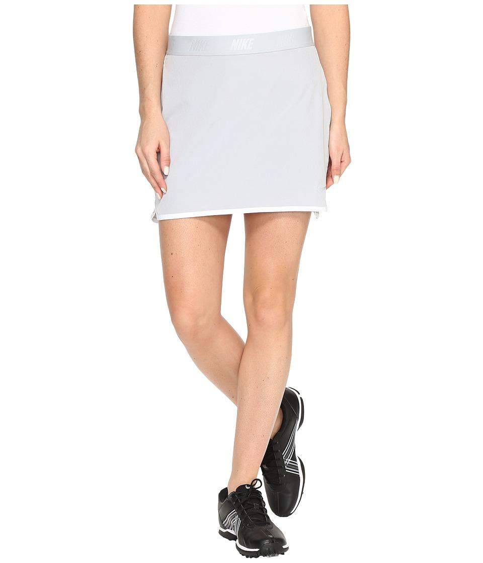 Nike Golf Fringe Flip Skort Solid (Wolf Grey/White/Metallic Silver) Women
