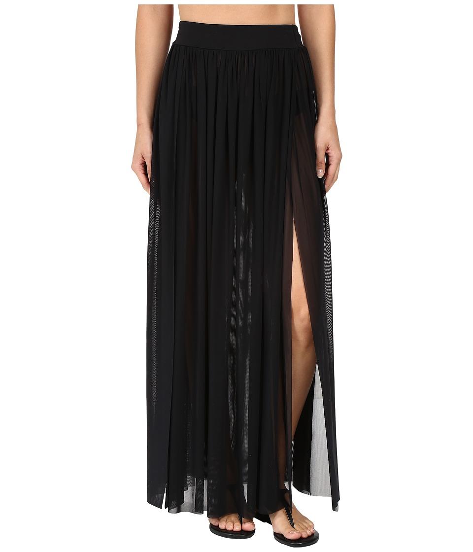JETS by Jessika Allen - Aspire Layered Mesh Maxi Skirt Cover-Up (Black) Women's Swimwear