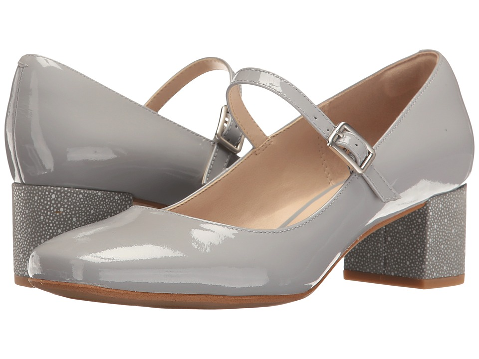 Clarks - Chinaberry Pop (Grey/Blue Patent) Women's Shoes