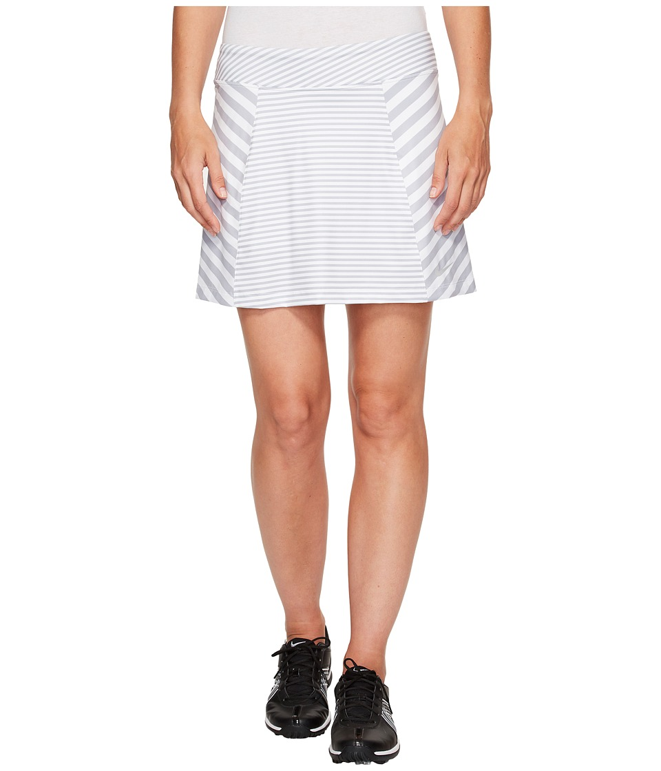 Nike Golf - Precision Knit Print Skort 2.0 (Wolf Grey/White/Metallic Silver) Women's Skort