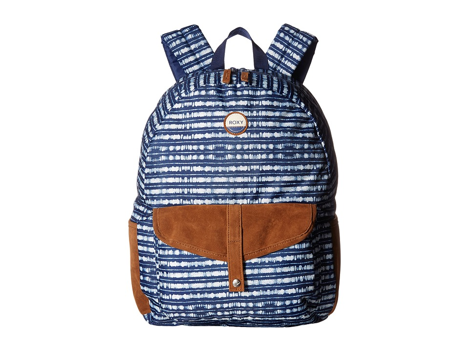 Roxy - Carribean (Blue Depths Olmeque Stripe) Backpack Bags