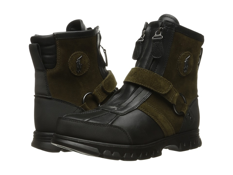 Polo Ralph Lauren - Conqst Hi I (Black/Olive) Men's Shoes