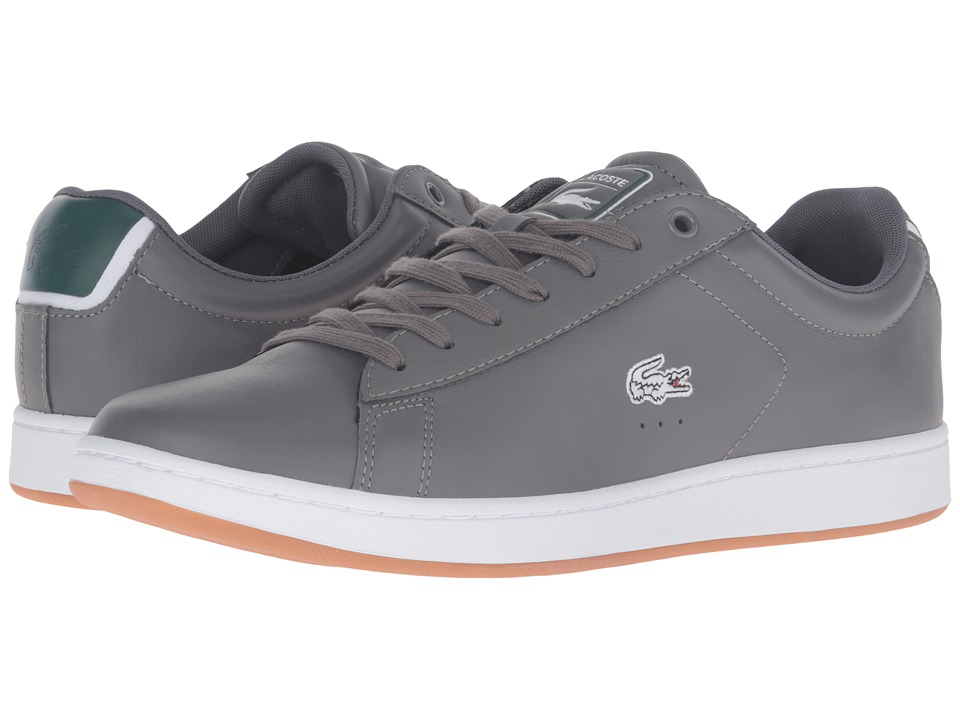 Lacoste - Carnaby Evo Rei (Dark Grey/Dark Grey) Men's Shoes