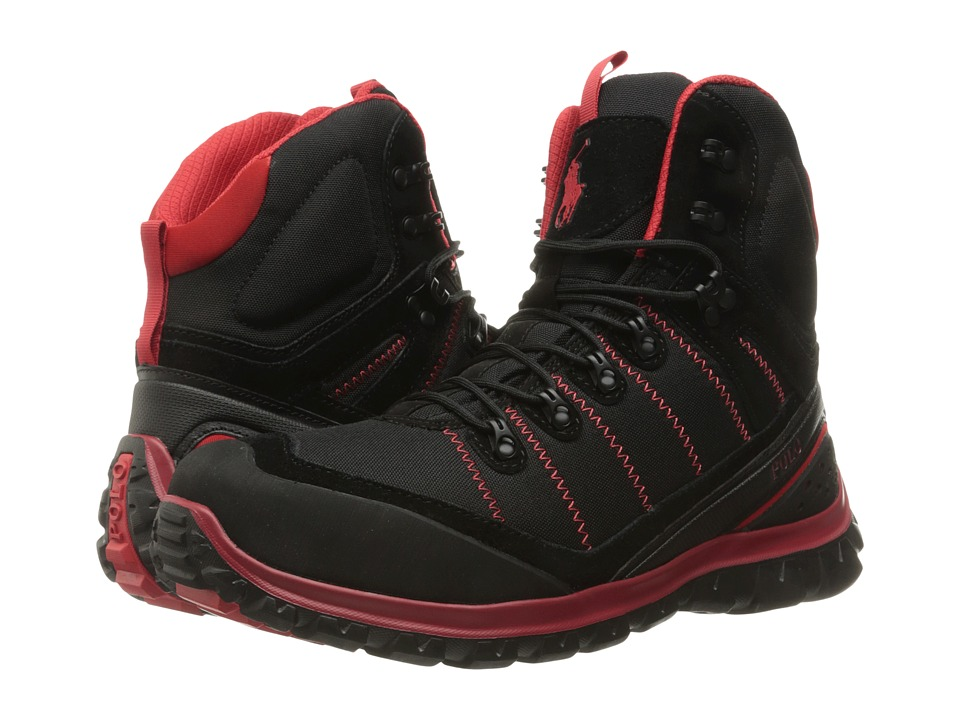 Polo Ralph Lauren - Hillingdon (Black/RL Red) Men's Shoes