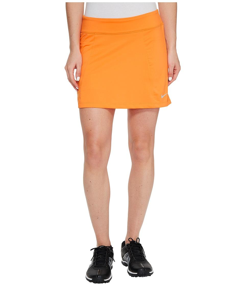 Nike Golf 14.5 Solid Knit Skort (Bright Mandarin/Metallic Silver) Women