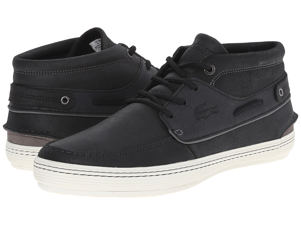 Lacoste - Meyssac Deck AP SRM (Black/Grey) Men's Shoes