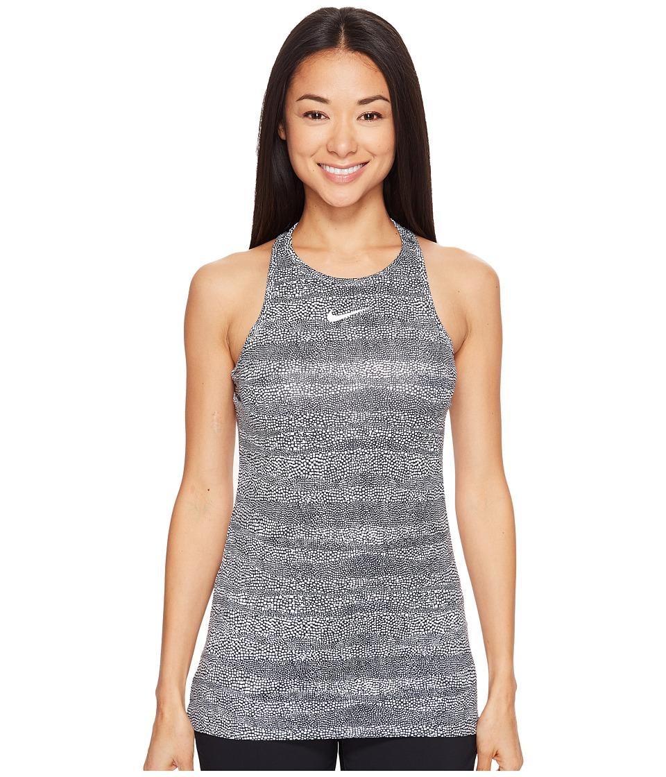 Nike Golf - All Over Graphic Racerback (Black/White/Metallic Silver) Women's Sleeveless