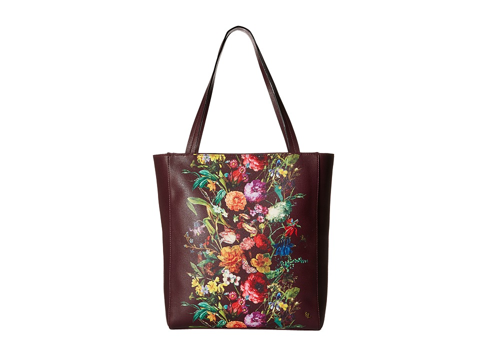 Elliott Lucca - Bali '89 All Day Tote (Black Cherry Autumn Botanica) Tote Handbags
